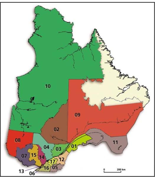 Les 17 régions administratives du Québec